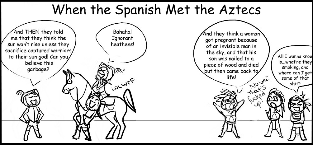 Reality04: Spanish Meet Aztecs by Absurd--Reality