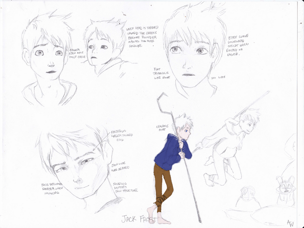 Character Design Study : Jack frost character design study by lindaburgess on