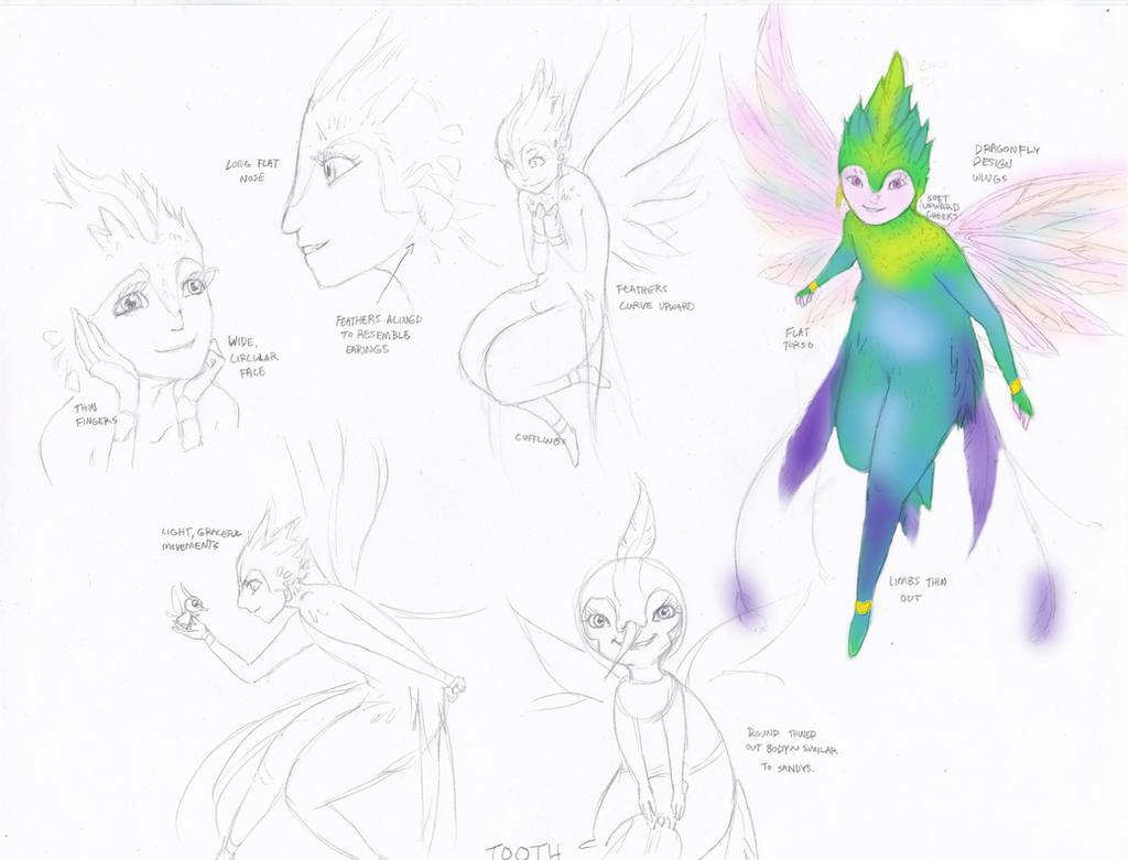 Character Design Study : Tooth fairy character design study by lindaburgess on