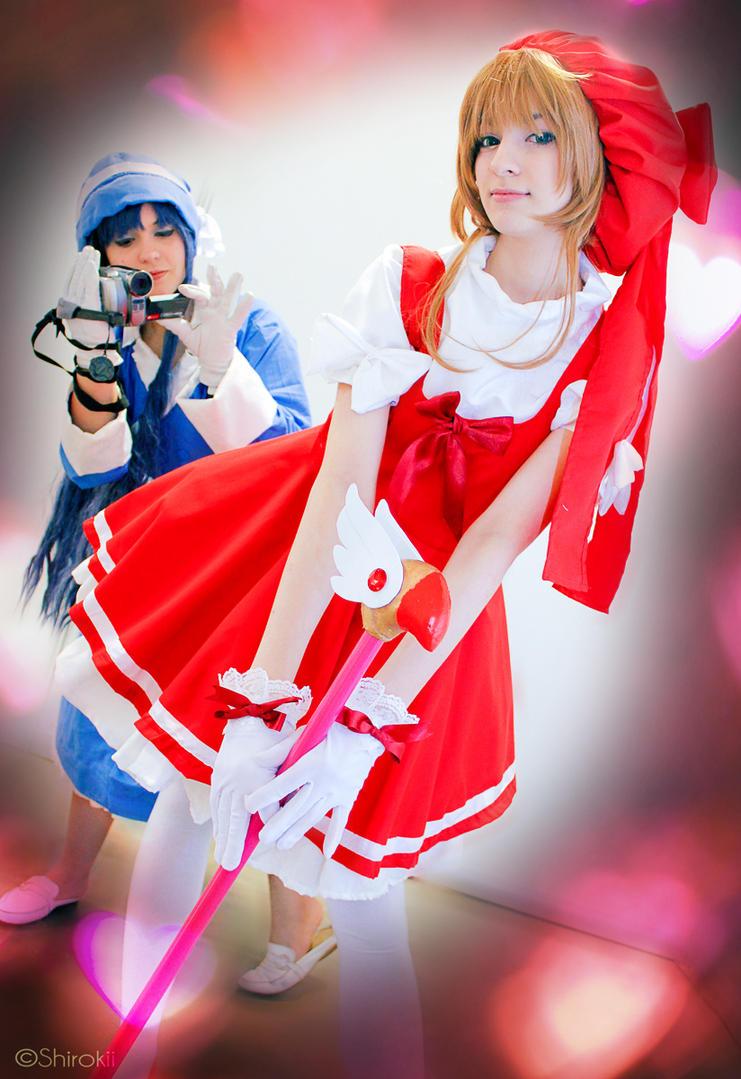 Tomoyo is ready to record! -CardCaptor Sakura by Shirokii