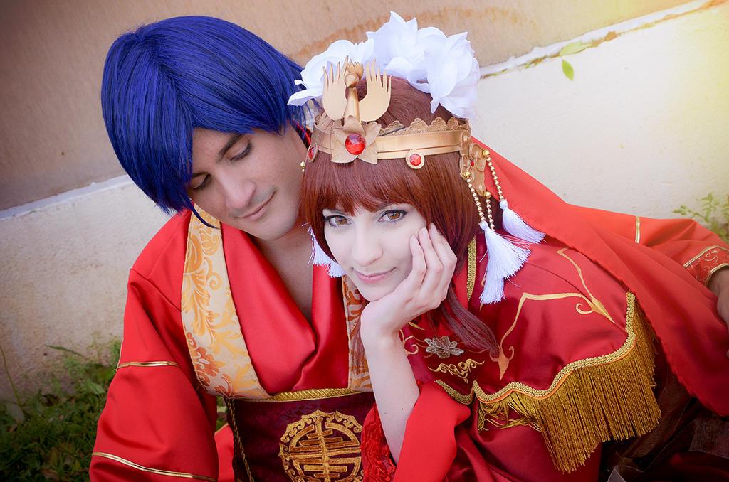 Fushigi Yuugi - Tamahome and Miaka by Shirokii