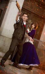 Booker and Elizabeth - Bioshock Infinite