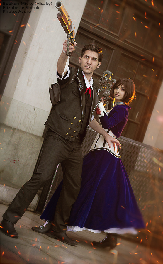 Booker and Elizabeth - Bioshock Infinite by Shirokii