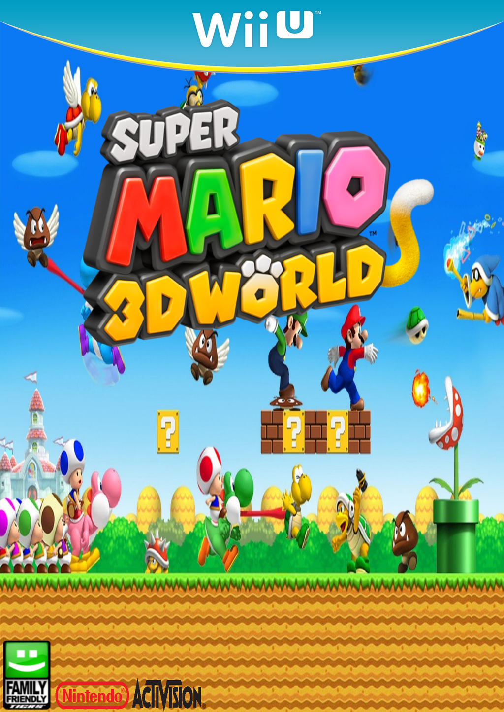 Mario Wii U Games : Super mario d world wii u game cover concept by imavalible