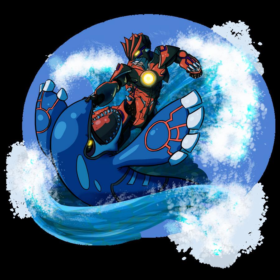 Groudon MK I VS Category 5 Kaiju Kyogre By Abalisk On