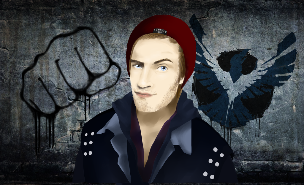 Pewdiepie Infamous second son by LoveGamer