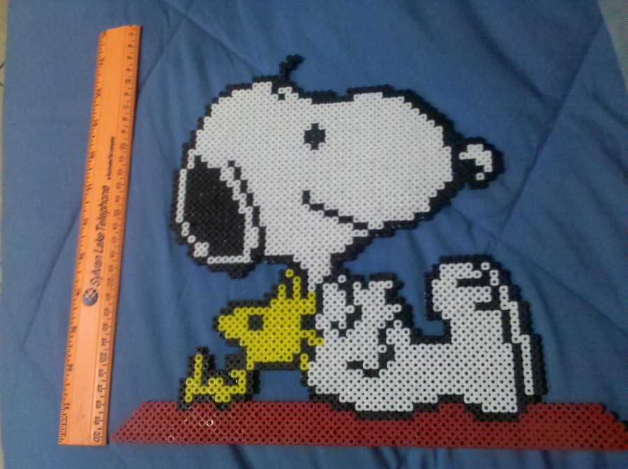 Snoopy and wookstock perler by vudumonkey25