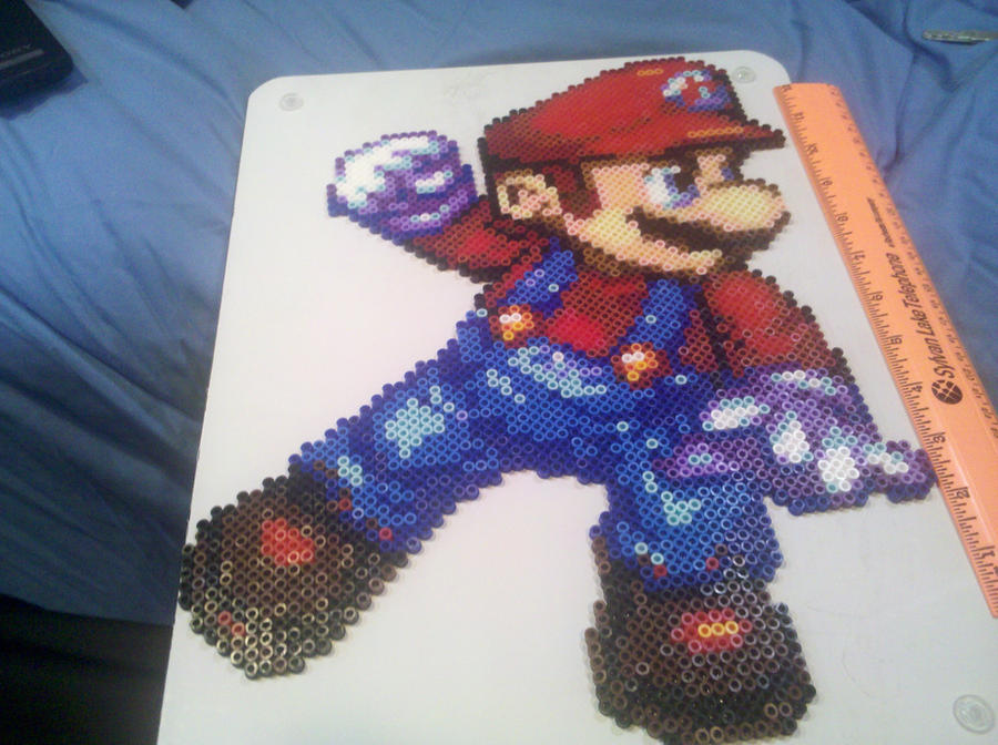 Mario perler bead by vudumonkey25