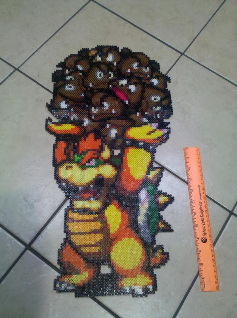 Bowser Goomba Ball Perler by vudumonkey25