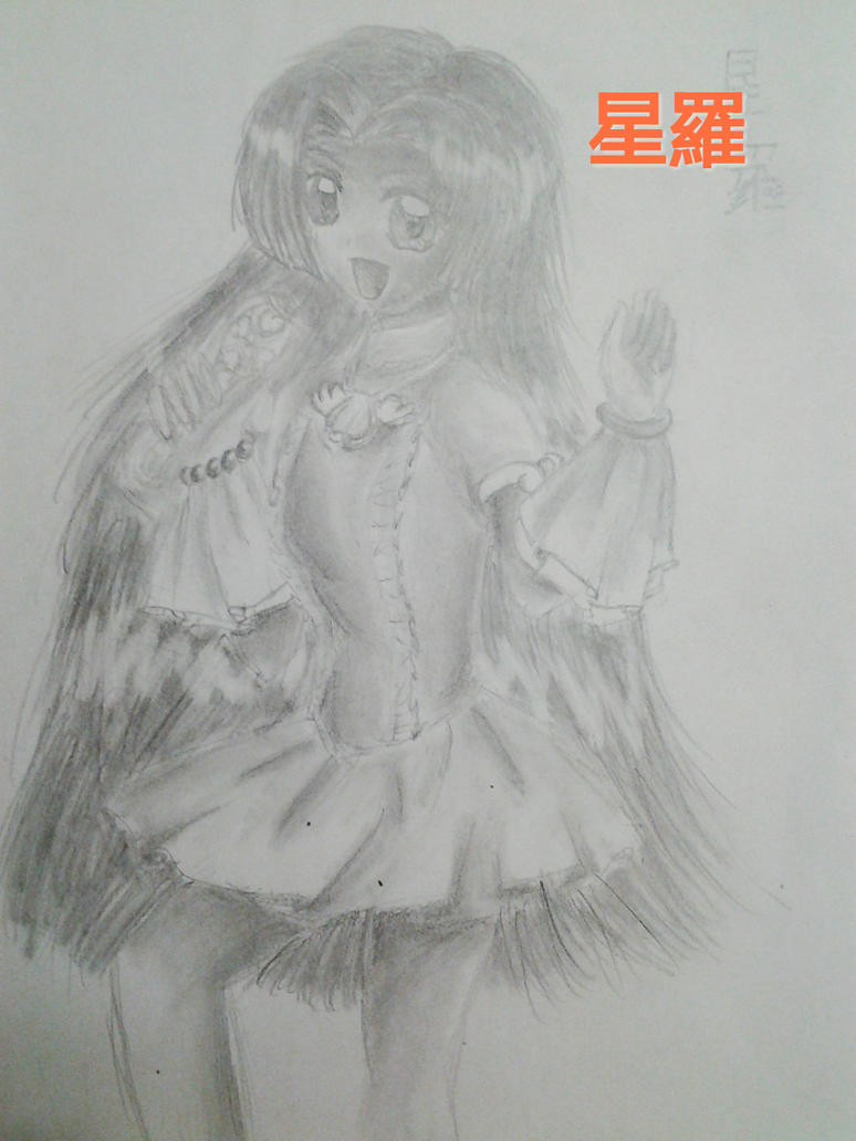 Seira Idol Pencil Drawing by Daphne-Phantom