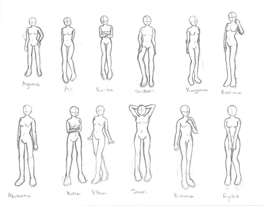 how to draw obese body poses