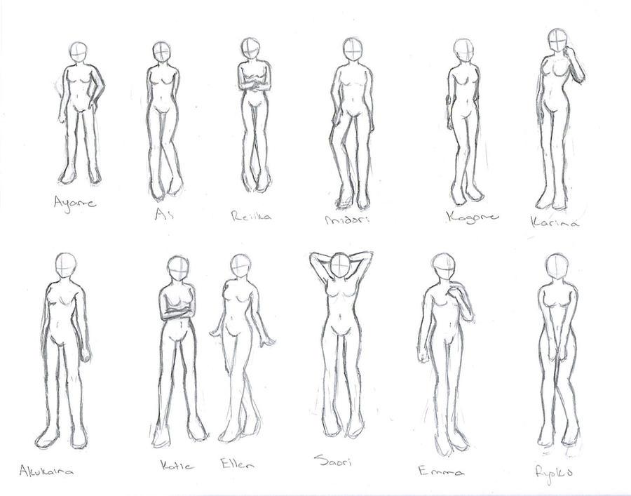 Character Poses By Akushou On DeviantArt