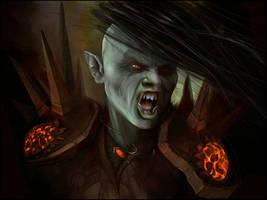 Ulsoga - Orc Warlock by jezebel