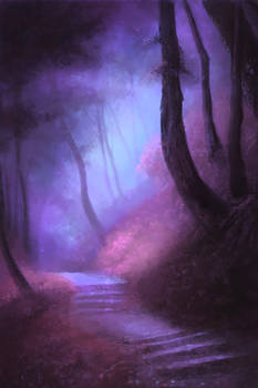 Moody Forest Path