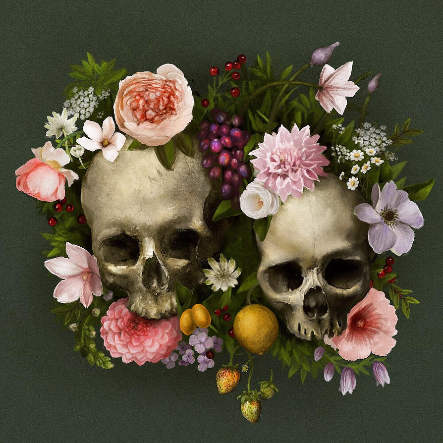 Skull Flowers by jezebel on DeviantArt