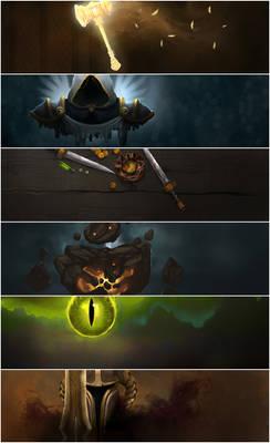World of Warcraft Class Headers for RaiderIO