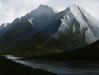 Mountain Scene Finished by jezebel