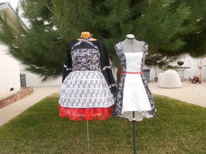 Halter and Tailed Dresses