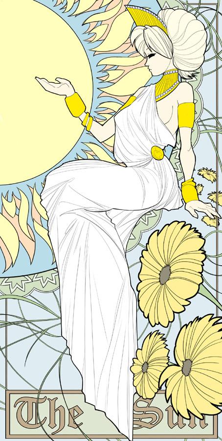 Sarah: The Sun Tarot by t-deines