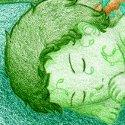 """""""Bébé plante verte""""... parce que j'avais envie :p.  Ça faisait longtemps que je n'avais pas touché aux crayons de couleur !"""