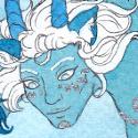 Erre'nest et son Echo pour La Carpette ! Tous ces bleus et cette peinture argentée, un bonheur à scanner :DD Pour voir comme ça brille : https://orig00.deviantart.net/78db/f/2018/207/e/1/univechoforcarpy_juillet2018_nerual_bonus_by_neruall-dcic1jj.jpg