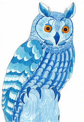 Blue owl by Neruall
