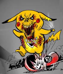 BLACKEST NIGHT pokemon pichu by TommyPhillips