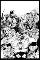 Green Lantern 62 cover INKED by TommyPhillips