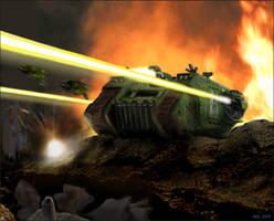 Warhammer: Land Raider by mikkow