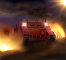 Warhammer: Word Bearers Rhino by mikkow