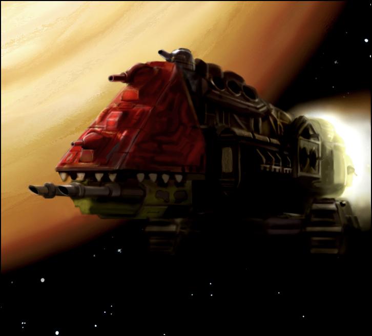 Warhammer: Evil Sunz Ork Ship by mikkow