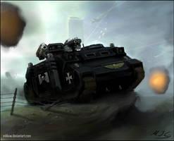 Warhammer: Razorback Rhino by mikkow