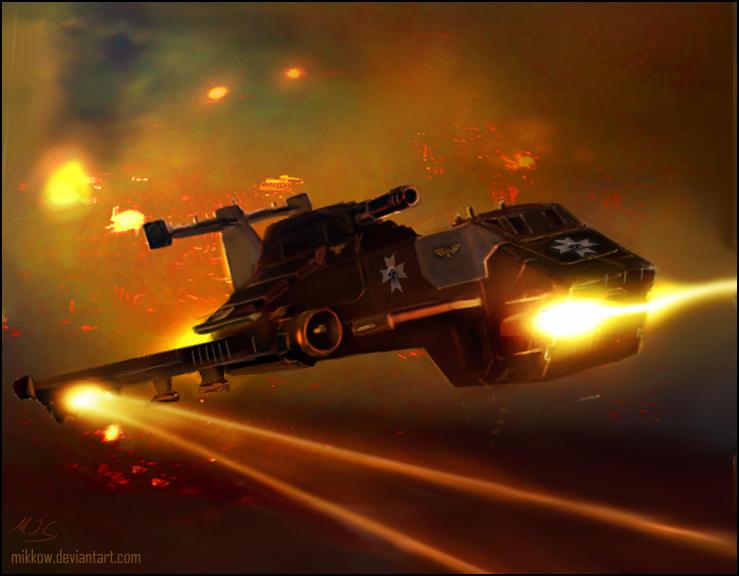 Warhammer: BT Thunderhawk by mikkow