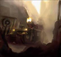 Warhammer: Whirlwind Rhino by mikkow