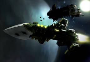 Warhammer: Cobra Class Escort by mikkow