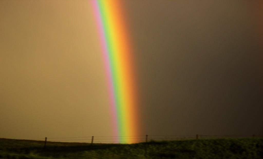 Rainbow after the storm North Dakota by Paganheart22