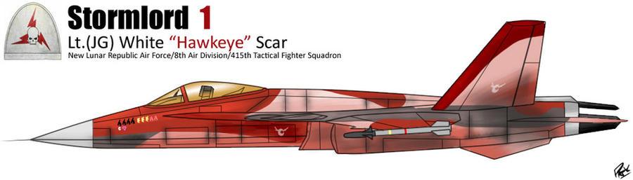 Lt.(JG) White ''Hawkeye'' Scar by PAK-FAace1234