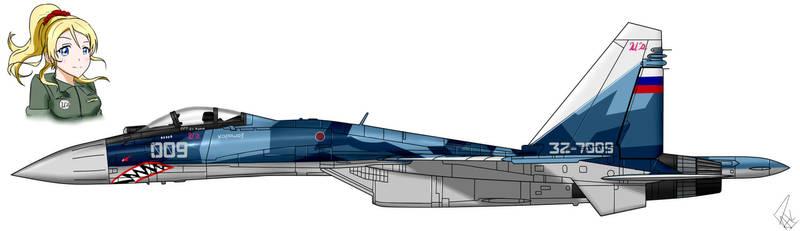 Su-35S -Eli Ayase- by PAK-FAace1234