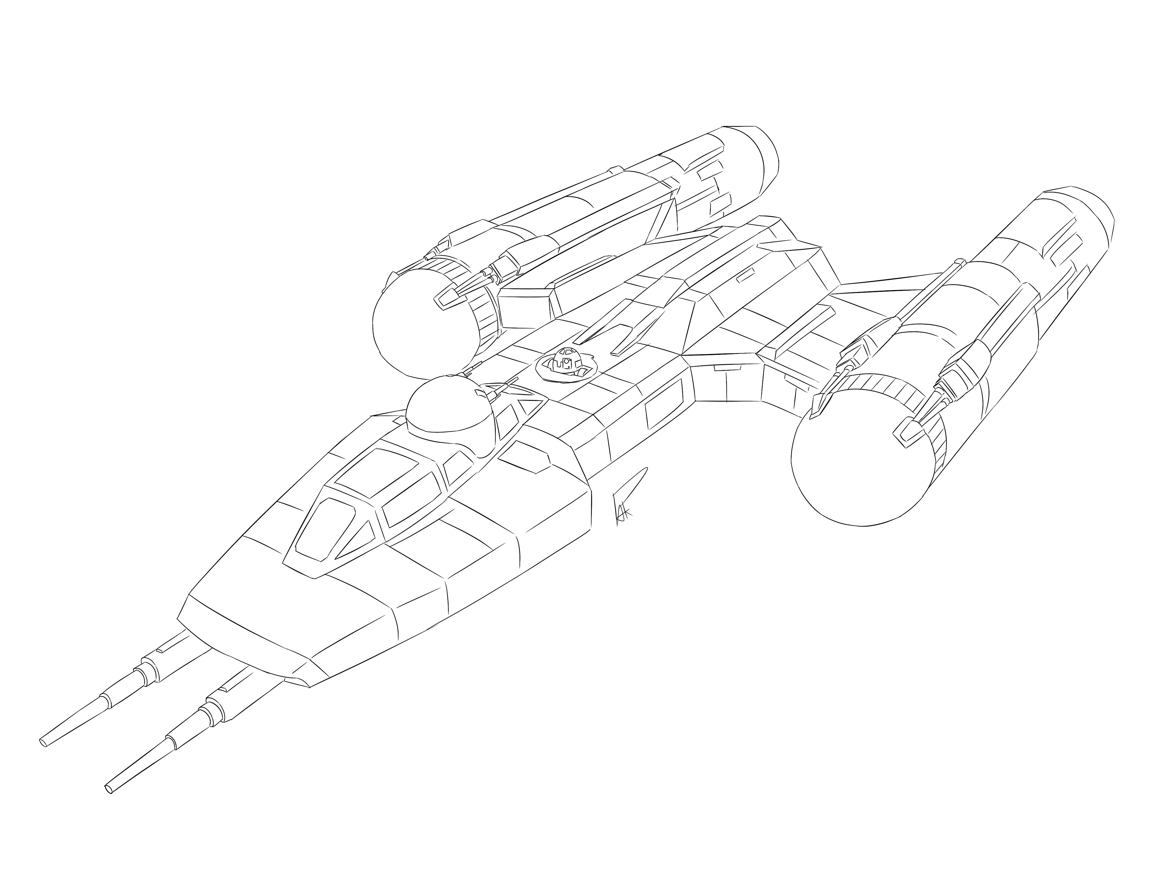 X Wing Line Drawing : The force awakens y wing by pak faace on deviantart