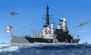 HMS King George V (2009 refit) by PAK-FAace1234
