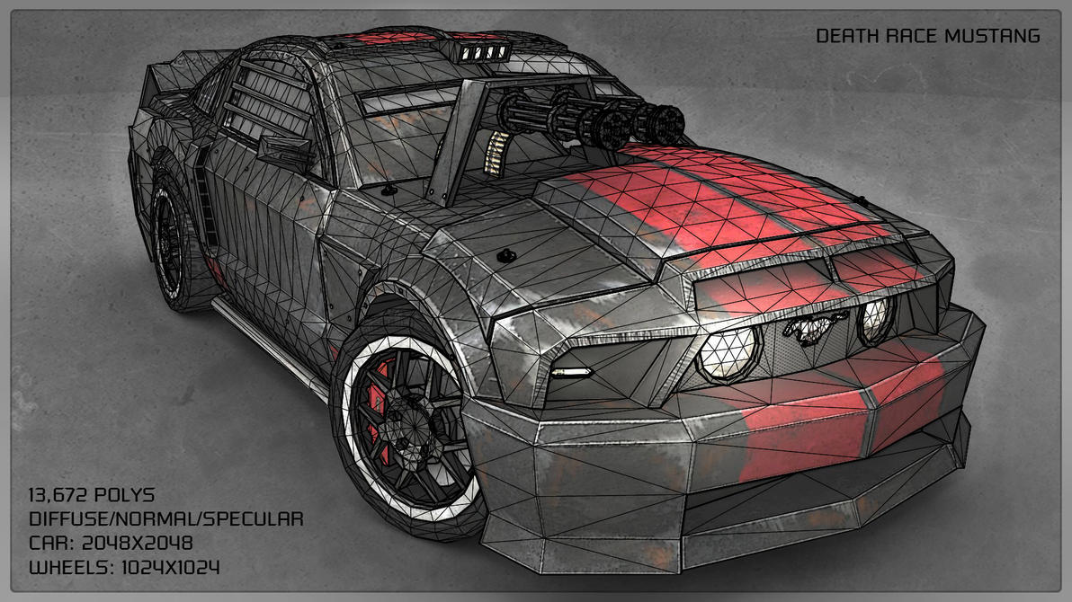 Death Race Mustang Wireframe By On Deviantart