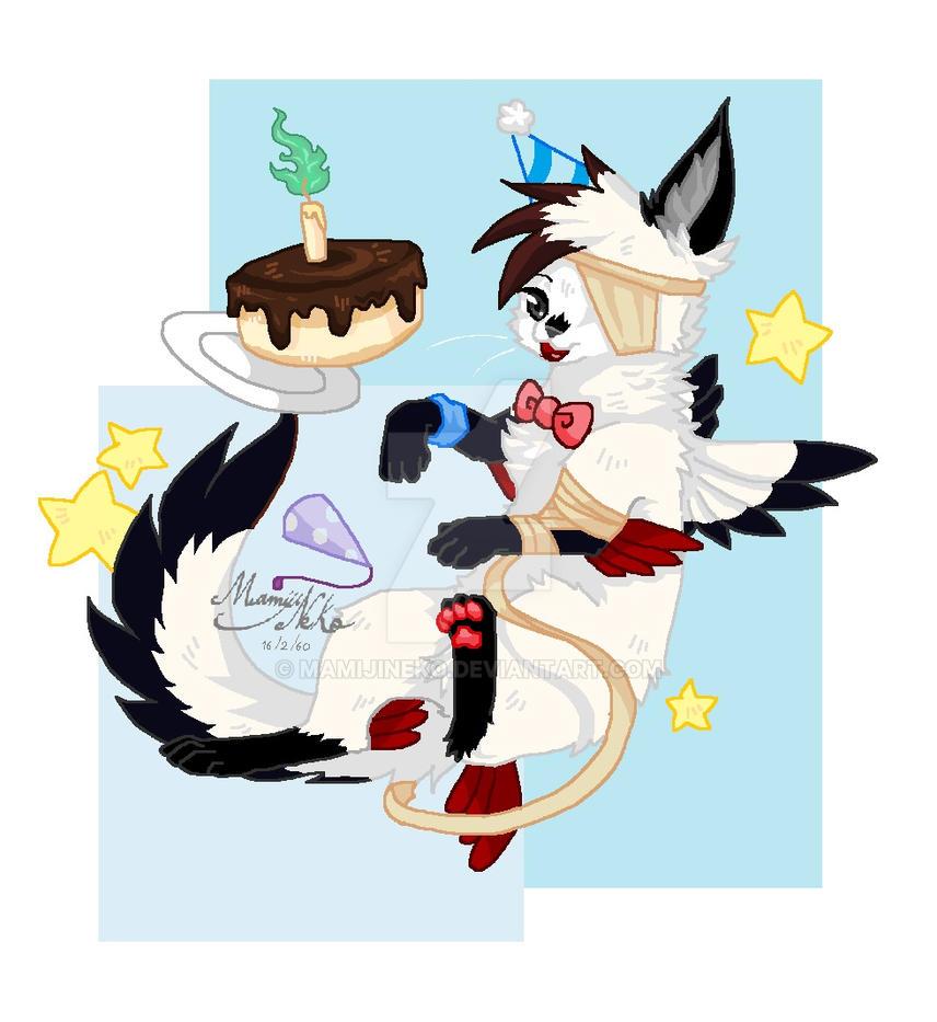 Happy Birthday DemonFox by mamijineko