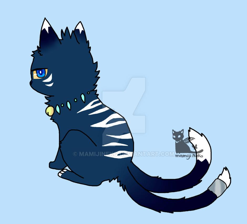 OC :ghost cat by mamijineko