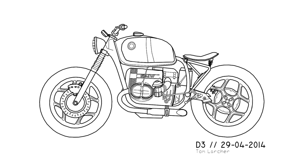 1986 bmw r80 rt  project design draft  by findyourexit on