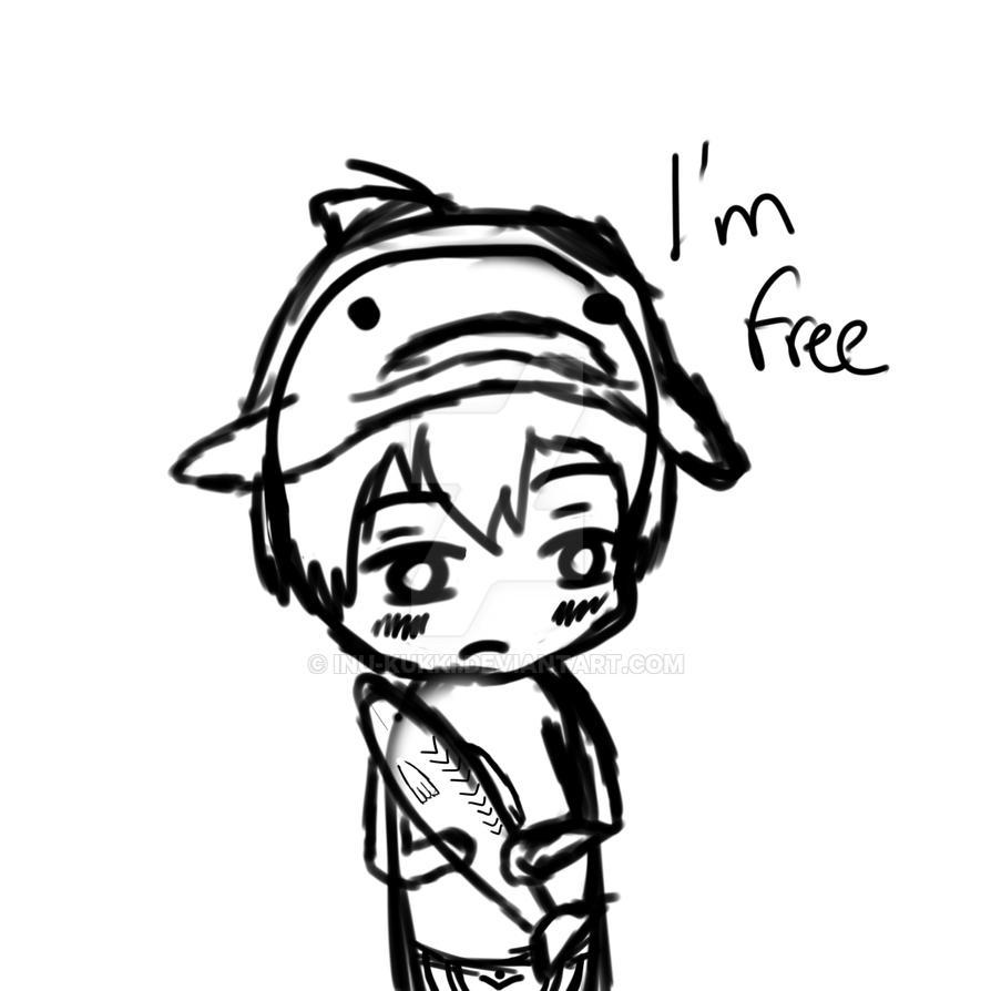 Haru Free! Boceto by Inu-Kukki