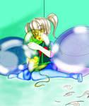 Big Yellow Crystal 24'' Mon-Sho-Fu Balloon