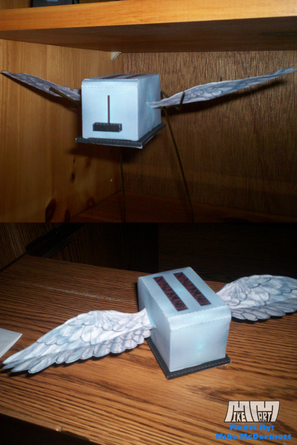 Flying Toaster Assembled Pics