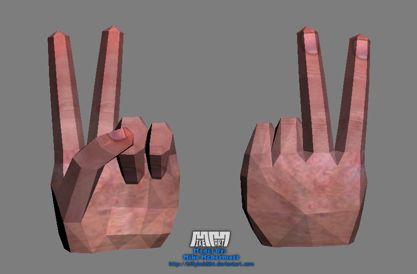 Peace Sign Hand 'Assembled'