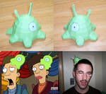 Futurama Brain Slug Assembled