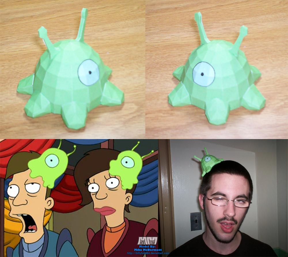 Futurama Brain Slug Assembled by billybob884